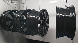 DJ Alloy Wheel Refurbishment - Specialist alloy wheel Powder Coating & Painting services in Denton, Manchester. t: 0161 336 1669